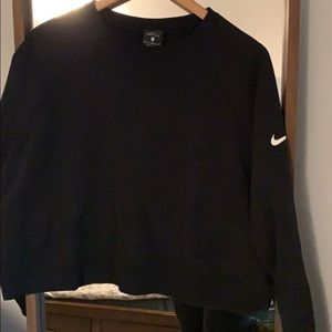 Nike black crop top pullover